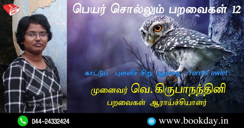 Jungle Owl Name Telling Birds Series Article by V Kirubhanandhini. Book Day Website is Branch of Bharathi Puthakayalam.