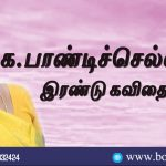 Pandi Selvi Two Poems in Tamil. These Poems Expresses Environmental Feelings. Book Day Website is Branch of Bharathi Puthakalayam.